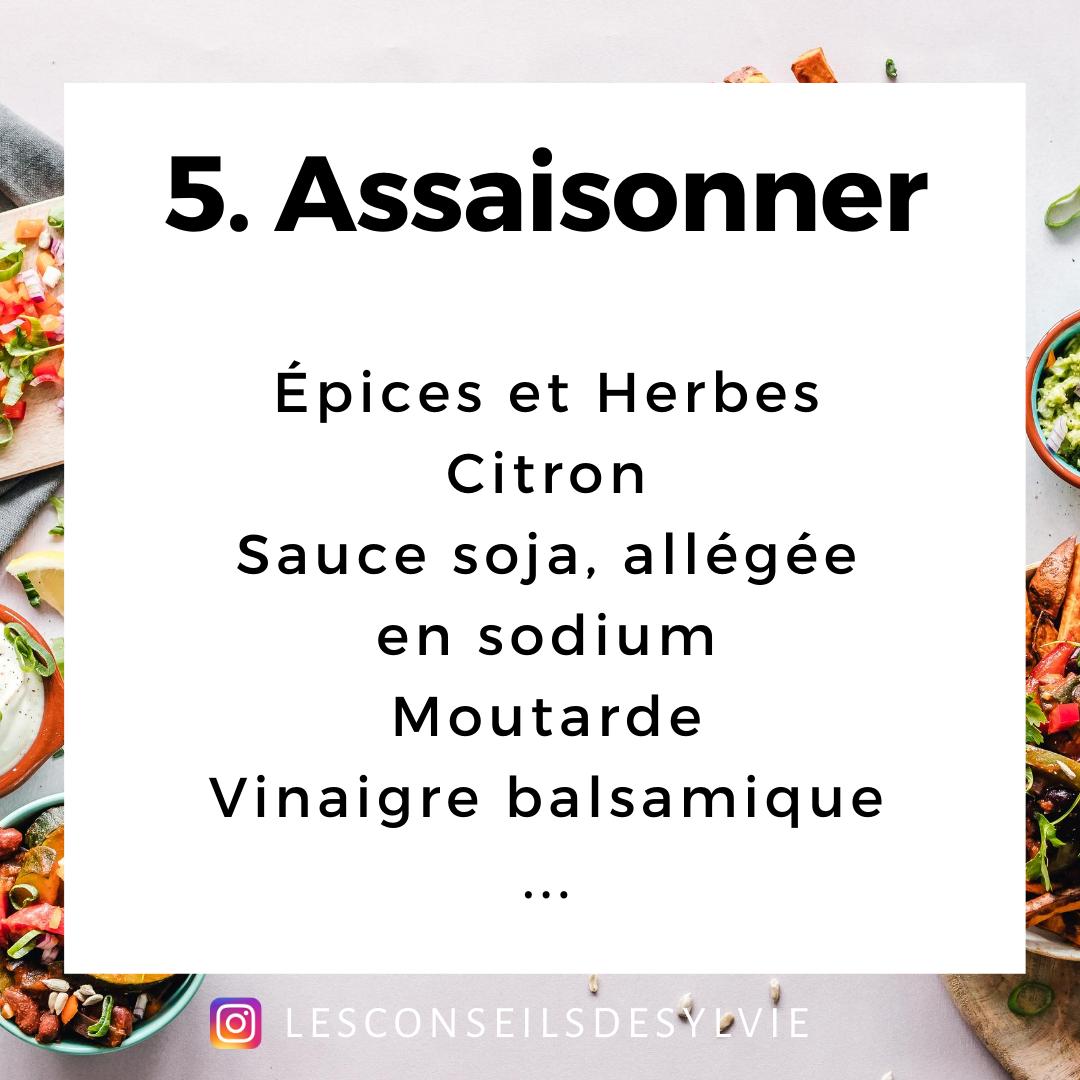 salade composée assaisonner