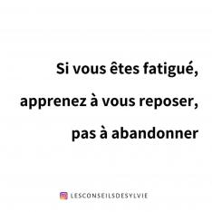 Fatigué(e)